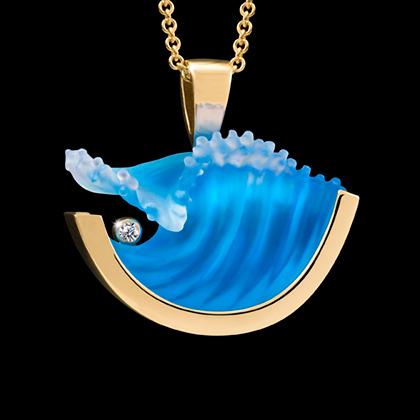 Matt bezak glass large curl wave pendant mozeypictures Image collections